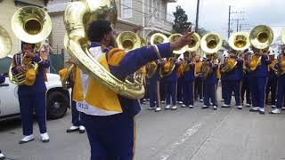 Miles College Tubas Battle Against Texas Southern Pre Mardi Gras (2018) Parade m