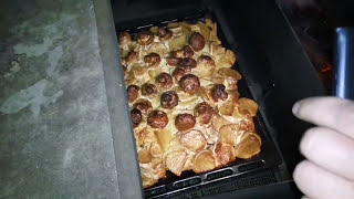 Окорочка в коктальнице с грибам и картошкой (вкусно)