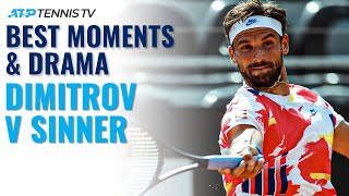 The always fun to watch dimitrov vs very promising sinner in rome... subscribe our channel for best atp tennis videos and highlights: https...