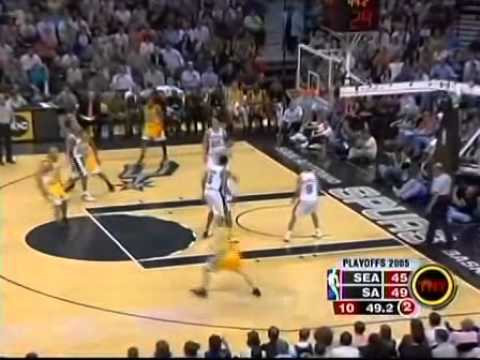 remember how nasty manu ginobili was in his prime? (39 points vs. sonics)