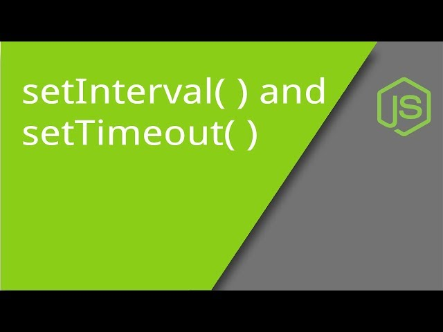 JavaScript Timers - setTimeout, setInterval, clearTimeout, and clearInterval