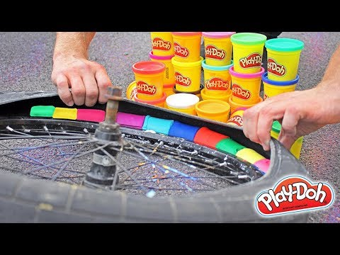 FILLING a BMX TIRE with PLAY-DOH!