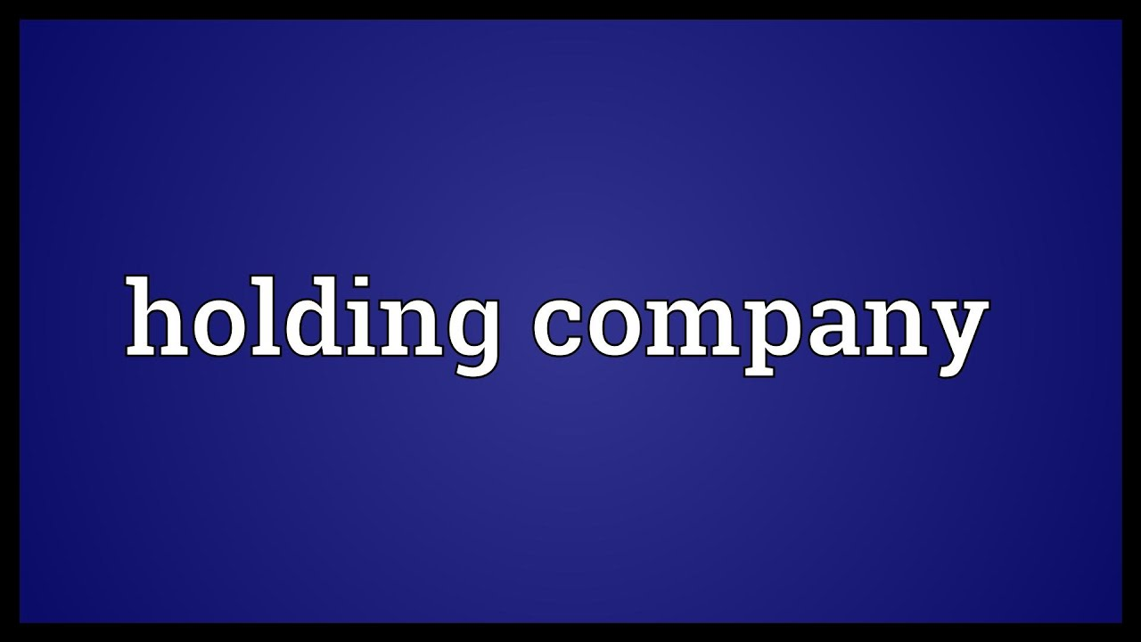 Holding Company Meaning Youtube