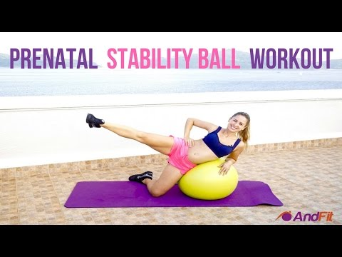 Prenatal Stability Ball  Workout For  I & II Trimester With Andrea Ramirez