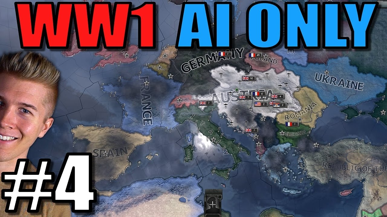 Hearts of Iron 4: World War 1 AI Only [WW1 Mod Gameplay] HOI4 - Part 4