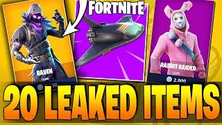Fortnite - 20 NEW LEAKED ITEMS - RAVEN (XUR / REAPER) Costume - Battle Royale Leak (ALL NEW OUTFITS)