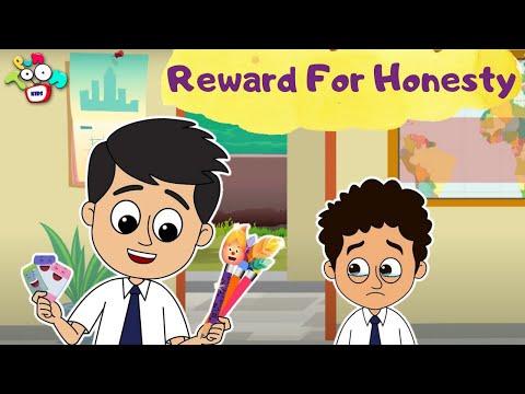 Honest Gattu   Reward For Honesty   English Moral Stories   Cartoon in English   Kids Stories