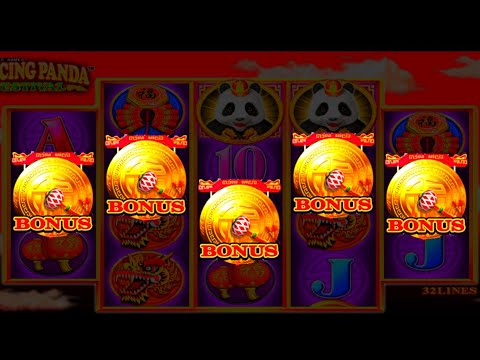 AS IT HAPPENS! LANDING ALL 5 BONUS SYMBOLS On Dancing Panda Slot Machine - 동영상