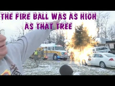 Funny News Interview Songify Remix, The Fire Ball Was As High As That Tree