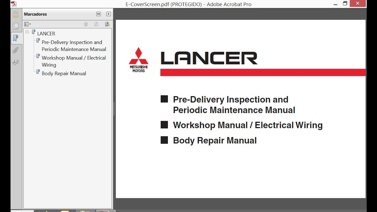 Mitsubishi Lancer  2004    Repair Manual