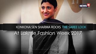 Konkona Sen Sharma Rocks The Saree Look At Lakme Fashion Week 2017