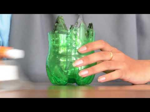 Cara Membuat Vas Bunga Cantik Dari Botol Bekas