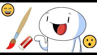 Drawing TheOdd1sOut on paint only mouse 🎨🖱️