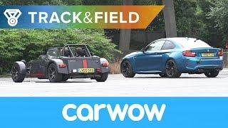 Reverse Drag Race: BMW M2 vs Caterham 620S vs Honda Civic Type R vs Jeep SRT-8 | Track&Field
