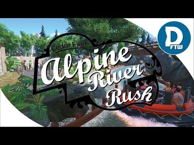 Planet Coaster Showcase - Alpine River Rush -  Whitewater River Rapids Rafting Promo & POV