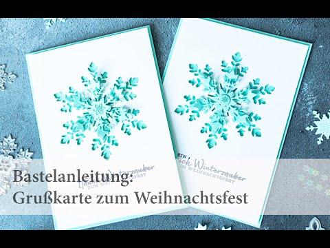 """Bastelanleitung """"Grußkarte zum Weihnachtsfest"""""""