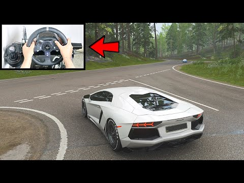 Forza Horizon 4 Lamborghini Aventador FE (Steering Wheel + Paddle Shifter) Gameplay