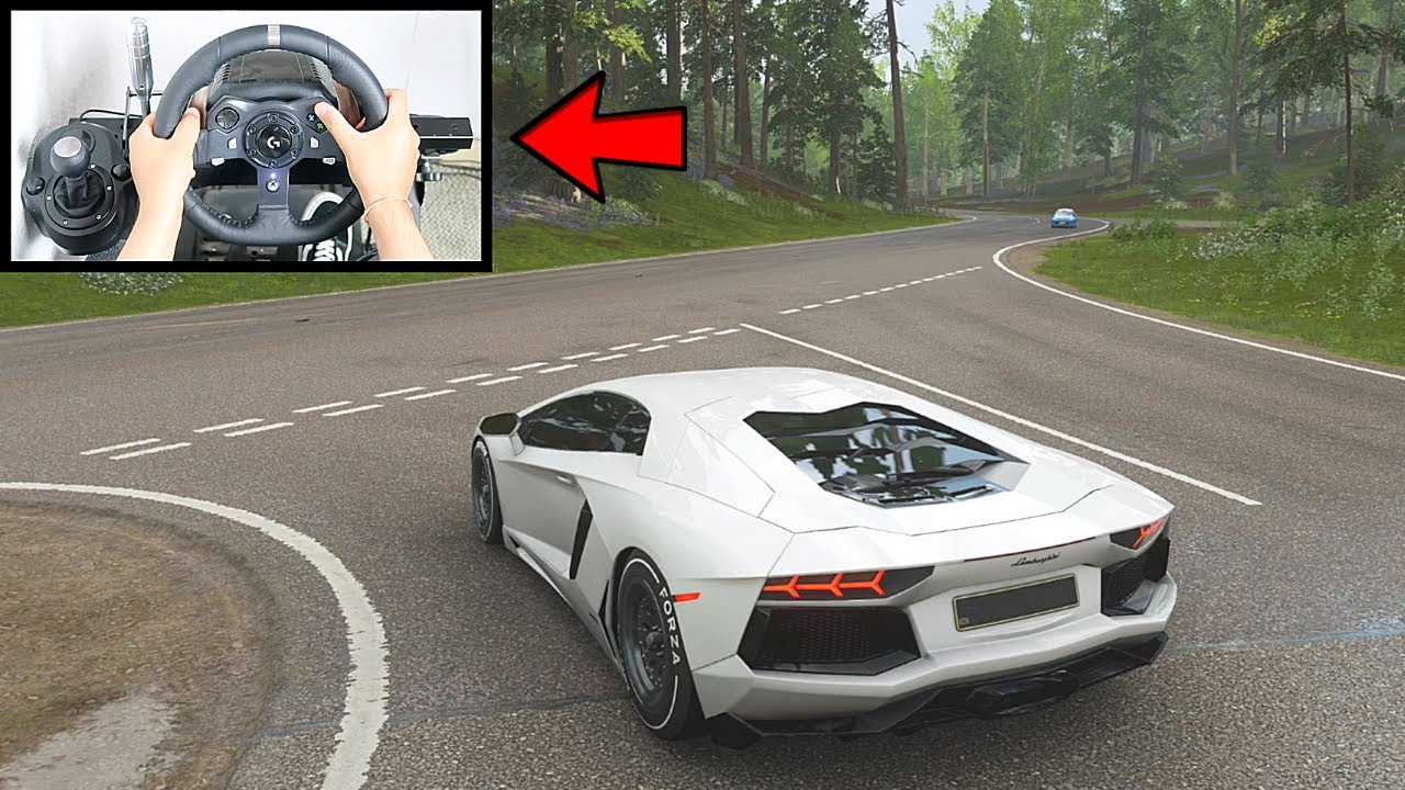Forza Horizon 4 Lamborghini Aventador FE (Steering Wheel + Paddle Shifter) Gameplay thumbnail