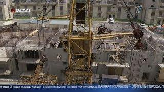 В результате инцидента с башенным краном временно приостановлено строительство жилого дома