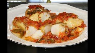 Треска в Томатно - Овощном соусе! Рыба запеченная в духовке!
