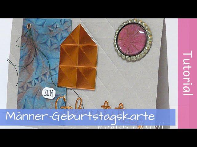 Geometric Embossing Folders - Geburtstagskarten - Anleitung - Tutorial - YouTube