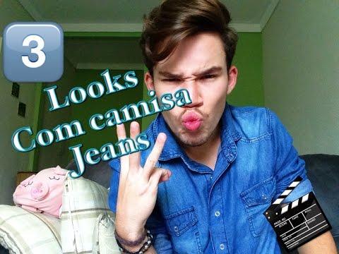 3 LOOKS COM CAMISA JEANS
