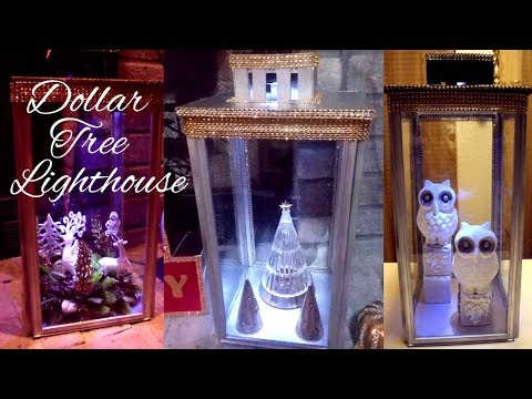 DIY Glam Dollar Tree Lighthouse Lantern|DIY Elegant Dollar Tree Home Decor| Glam Home Decor