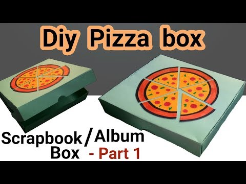 DIY PIZZA BOX Scrapbook Tutorial - Part 1 | Best gift for PIZZA LOVERS |