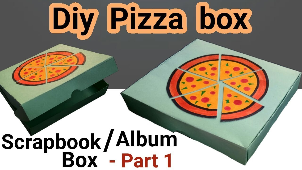 Diy pizza box scrapbook tutorial part 1 best gift for pizza lovers