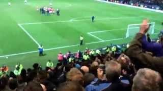 Manchester United Fans at Full Time vs Preston North End (FA Cup) 16/02/2015