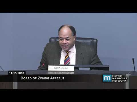 11/15/18 Zoning Appeals Board Meeting *see note*