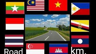 Road distance in ASEAN ระยะทางถนนในอาเซียน