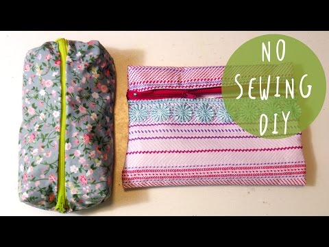 DIY Back to School Tutorial: How to make a PENCIL CASE 3 design and NO SEW by ART Tv