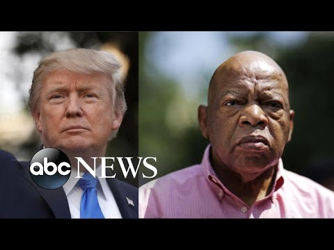 Tensions build between Trump,  john lewis