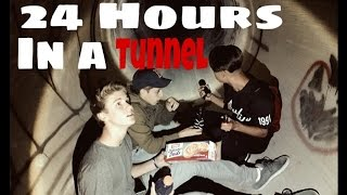 24 Hours/Over Night Challenge in a Creepy Tunnel