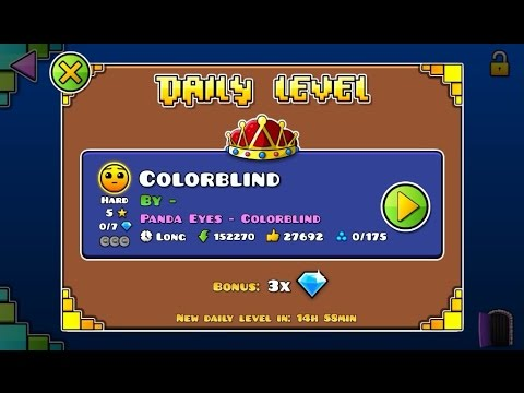 Geometry Dash World - Daily featured #17 - Colorblind (all coins)