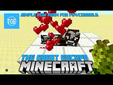 Minecraft: Fast, Easy Cow Farm for PS4 and Console Edition