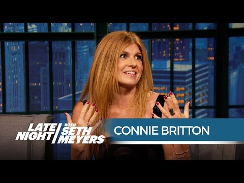 Connie Britton Loved Amy Schumer's Friday Night Lights Parody  Late Night with Seth Meyers