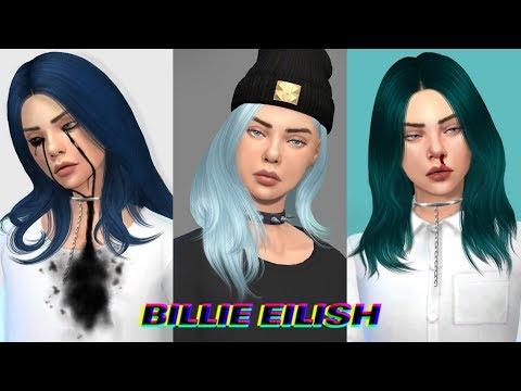 The Sims 4 CAS: Billie Eilish + Paint 3D Speed Edit