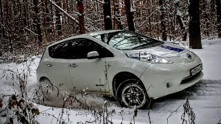 [Летопись Про Leaf] Про Электромобиль Зимой И Немного Оффроада По Снегу.