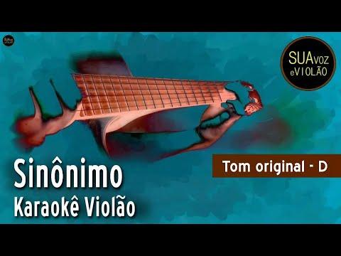 Sinônimos - Zé Ramalho - Karaokê Violão