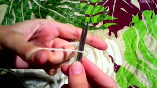 Как научиться вязать спицами Урок 2 — Традиционный набор петель восьмёркой