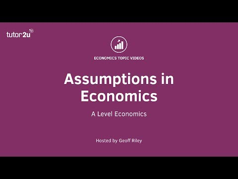 Assumptions in Economics