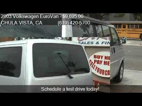 2003 Volkswagen EuroVan GLS 3dr Minivan for sale in CHULA VI