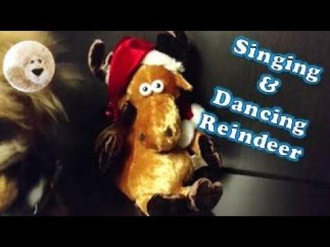 Dancing & Singing Reindeer Sleigh Ride Song Stuffed Animal by Dan Dee