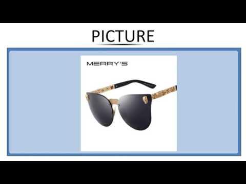 1e0e4e082 MERRY'S Fashion Women Gothic Eyewear Skull Frame Metal Temple Oculos de sol  UV400