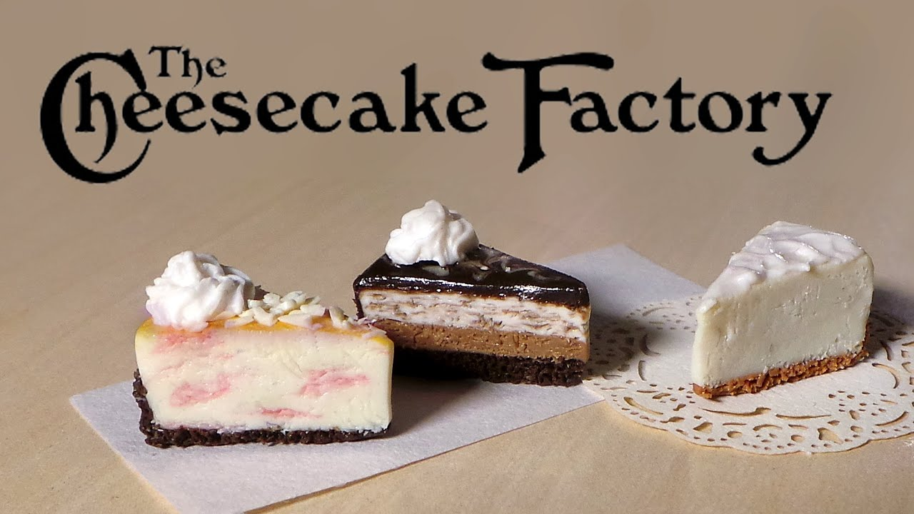The Cheesecake Factory Miniatures Polymer Clay Tutorial YouTube