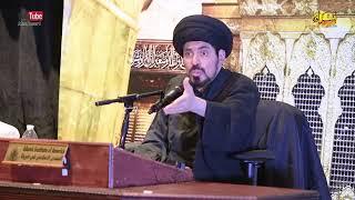 السيد منير الخباز - لماذا القرآن يعبر عن النبي صلى الله عليه و آله وسلم بمذكر و معلم