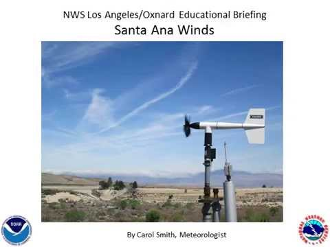 What causes Santa Ana Winds