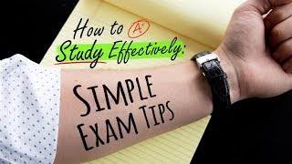 HOW TO STUDY EFFECTIVELY: SIMPLE EXAM TIPS | Doctor Mike​